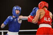 14 October 2018; Dean Clancy, left, of Team Ireland, from Ballinacarrow, Sligo, in action against Hichem Maouche of Algeria during his men's flyweight (49-52KG) bout, preliminary round1, in the Youth Olympic Park on Day 8 of the Youth Olympic Games in Buenos Aires, Argentina. Photo by Eóin Noonan/Sportsfile