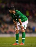 13 October 2018; Shane Long of Republic of Ireland during the UEFA Nations League B group four match between Republic of Ireland and Denmark at the Aviva Stadium in Dublin. Photo by Harry Murphy/Sportsfile