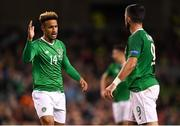 13 October 2018; Callum Robinson and Shane Long of Republic of Ireland during the UEFA Nations League B group four match between Republic of Ireland and Denmark at the Aviva Stadium in Dublin. Photo by Harry Murphy/Sportsfile