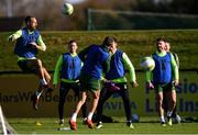 15 October 2018; David Meyler, left, during a Republic of Ireland training session at the FAI National Training Centre in Abbotstown, Dublin. Photo by Stephen McCarthy/Sportsfile