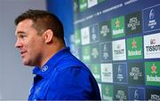 15 October 2018; Scrum coach John Fogarty during a Leinster Rugby press conference at Leinster Rugby Headquarters in Dublin. Photo by Ramsey Cardy/Sportsfile