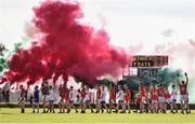 14 October 2018; A general view of the pre-match parade prior to the Wicklow County Senior Club Football Championship Final match between Rathnew and St Patricks at Joule Park in Aughrim, Wicklow. Photo by Sam Barnes/Sportsfile