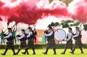 14 October 2018; The Wicklow Pipe band perfrom during the pre-match parade prior to the Wicklow County Senior Club Football Championship Final match between Rathnew and St Patricks at Joule Park in Aughrim, Wicklow. Photo by Sam Barnes/Sportsfile