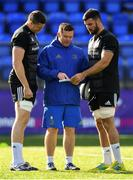 15 October 2018; Scrum coach John Fogarty in conversation with Ian Nagle, left, and Mick Kearney during Leinster Rugby squad training at Energia Park in Donnybrook, Dublin. Photo by Ramsey Cardy/Sportsfile