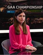 11 October 2018; RTÉ presenter Joanne Cantwell before The GAA Championship Draw 2019 at RTÉ Studios in Donnybrook, Dublin.   Photo by Piaras Ó Mídheach/Sportsfile