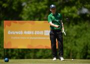 15 October 2018; David Kitt of Team Ireland, from Athenry, Co. Galway, lining up his drive on the 5th hole during the Mixed Team Cumulative Team Play event in the Hurlingham Golf Cub, on Day 9 of the Youth Olympic Games in Buenos Aires, Argentina. Photo by Eóin Noonan/Sportsfile