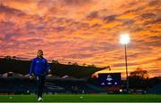 12 October 2018; Jordan Larmour of Leinster ahead of the Heineken Champions Cup Pool 1 Round 1 match between Leinster and Wasps at the RDS Arena in Dublin. Photo by Ramsey Cardy/Sportsfile
