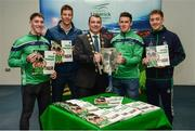 16 October 2018; James Collins, Mayor of the City and County of Limerick, along with Limerick hurlers, from left, Sean Finn, Dan Morrissey, Darragh O'Donovan, and Pat Ryan during the launch of the Limerick celebration book 'Treaty Triumph', a stunning photographic memoir, with words by Damian Lawlor, that paints a vivid picture of Limerick's magical odyssey to the hurling summit. Limerick City and County Council supports the book in aid of Limerick GAA to keep price at just €19.95. Limerick City and County Council, Merchants Quay, Limerick. Photo by Diarmuid Greene/Sportsfile