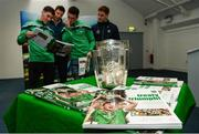 16 October 2018; Limerick hurlers Sean Finn, Dan Morrissey, Darragh O'Donovan, and Pat Ryan during the launch of the Limerick celebration book 'Treaty Triumph', a stunning photographic memoir, with words by Damian Lawlor, that paints a vivid picture of Limerick's magical odyssey to the hurling summit. Limerick City and County Council supports the book in aid of Limerick GAA to keep price at just €19.95. Limerick City and County Council, Merchants Quay, Limerick. Photo by Diarmuid Greene/Sportsfile