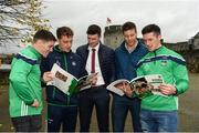 16 October 2018; Limerick players, from left, Sean Finn, Pat Ryan, Declan Hannon, Dan Morrissey, and Darragh O'Donovan during the launch of the Limerick celebration book 'Treaty Triumph', a stunning photographic memoir, with words by Damian Lawlor, that paints a vivid picture of Limerick's magical odyssey to the hurling summit. Limerick City and County Council supports the book in aid of Limerick GAA to keep price at just €19.95. Limerick City and County Council, Merchants Quay, Limerick. Photo by Diarmuid Greene/Sportsfile