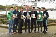 16 October 2018; James Collins, Mayor of the City and County of Limerick, Limerick manager John Kiely, captain Declan Hannon, and players, from left, Darragh O'Donovan, Dan Morrissey, Sean Finn and Pat Ryan, during the launch of the Limerick celebration book 'Treaty Triumph', a stunning photographic memoir, with words by Damian Lawlor, that paints a vivid picture of Limerick's magical odyssey to the hurling summit. Limerick City and County Council supports the book in aid of Limerick GAA to keep price at just €19.95. Limerick City and County Council, Merchants Quay, Limerick. Photo by Diarmuid Greene/Sportsfile