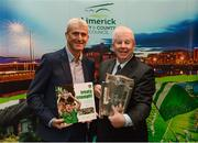 16 October 2018; Limerick manager John Kiely with Ray McManus of Sportsfile during the launch of the Limerick celebration book 'Treaty Triumph', a stunning photographic memoir, with words by Damian Lawlor, that paints a vivid picture of Limerick's magical odyssey to the hurling summit. Limerick City and County Council supports the book in aid of Limerick GAA to keep price at just €19.95. Limerick City and County Council, Merchants Quay, Limerick. Photo by Diarmuid Greene/Sportsfile