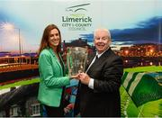 16 October 2018; Laura Ryan, Head of Communications and Marketing, Limerick City and County Council, along with Ray McManus of Sportsfile during the launch of the Limerick celebration book 'Treaty Triumph', a stunning photographic memoir, with words by Damian Lawlor, that paints a vivid picture of Limerick's magical odyssey to the hurling summit. Limerick City and County Council supports the book in aid of Limerick GAA to keep price at just €19.95. Limerick City and County Council, Merchants Quay, Limerick. Photo by Diarmuid Greene/Sportsfile