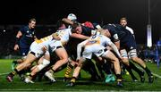 12 October 2018; Tadhg Furlong of Leinster controls a maul during the Heineken Champions Cup Pool 1 Round 1 match between Leinster and Wasps at the RDS Arena in Dublin. Photo by Brendan Moran/Sportsfile