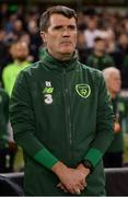16 October 2018; Republic of Ireland assistant manager Roy Keane prior to the UEFA Nations League B group four match between Republic of Ireland and Wales at the Aviva Stadium in Dublin. Photo by Harry Murphy/Sportsfile