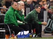 16 October 2018; Republic of Ireland assistant manager Roy Keane, right, during the UEFA Nations League B group four match between Republic of Ireland and Wales at the Aviva Stadium in Dublin. Photo by Brendan Moran/Sportsfile
