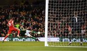 16 October 2018; James McClean of Republic of Ireland has a shot on goal during the UEFA Nations League B group four match between Republic of Ireland and Wales at the Aviva Stadium in Dublin. Photo by Stephen McCarthy/Sportsfile