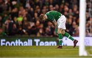 16 October 2018; James McClean of Republic of Ireland after a missed chance on goal during the UEFA Nations League B group four match between Republic of Ireland and Wales at the Aviva Stadium in Dublin. Photo by Stephen McCarthy/Sportsfile