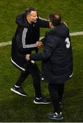 16 October 2018; Wales manager Ryan Giggs and Republic of Ireland assistant manager Roy Keane following the UEFA Nations League B group four match between Republic of Ireland and Wales at the Aviva Stadium in Dublin. Photo by Ramsey Cardy/Sportsfile