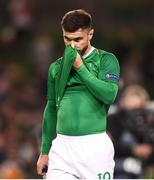 16 October 2018; Scott Hogan of Republic of Ireland leaves the pitch following the UEFA Nations League B group four match between Republic of Ireland and Wales at the Aviva Stadium in Dublin. Photo by Stephen McCarthy/Sportsfile