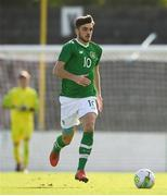 16 October 2018; Troy Parrott of Republic of Ireland during the 2018/19 UEFA Under-19 European Championships Qualifying Round match between Republic of Ireland and Netherlands at City Calling Stadium, in Lissanurlan, Co. Longford. Photo by Harry Murphy/Sportsfile