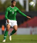 16 October 2018; Adam Idah of Republic of Ireland during the 2018/19 UEFA Under-19 European Championships Qualifying Round match between Republic of Ireland and Netherlands at City Calling Stadium, in Lissanurlan, Co. Longford. Photo by Harry Murphy/Sportsfile