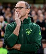 16 October 2018; Republic of Ireland manager Martin O'Neill  during the UEFA Nations League B group four match between Republic of Ireland and Wales at the Aviva Stadium in Dublin. Photo by Harry Murphy/Sportsfile