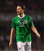 16 October 2018; Harry Arter of Republic of Ireland during the UEFA Nations League B group four match between Republic of Ireland and Wales at the Aviva Stadium in Dublin. Photo by Harry Murphy/Sportsfile