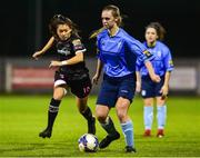 17 October 2018; Katie Burdis of UCD Waves in action against Mckenna Davidson of Wexford Youths during the Continental Tyres FAI Women's Cup Semi-Final match between Wexford Youths and UCD Waves at Ferrycarrig Park, in Wexford. Photo by Matt Browne/Sportsfile