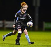 17 October 2018; Edel Kennedy of Wexford Youths in action against Sophie O'Donoghue of UCD Waves during the Continental Tyres FAI Women's Cup Semi-Final match between Wexford Youths and UCD Waves at Ferrycarrig Park, in Wexford. Photo by Matt Browne/Sportsfile