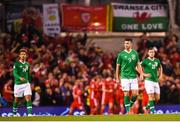 16 October 2018; Shane Long of Republic of Ireland reacts to conceding a goal during the UEFA Nations League B group four match between Republic of Ireland and Wales at the Aviva Stadium in Dublin. Photo by Stephen McCarthy/Sportsfile