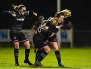 17 October 2018; Katrina Parrock,25, of Wexford Youths celebrates after scoring a goal against UCD Waves with team captain Kylie Murphy and Edel Kennedy during the Continental Tyres FAI Women's Cup Semi-Final match between Wexford Youths and UCD Waves at Ferrycarrig Park, in Wexford. Photo by Matt Browne/Sportsfile
