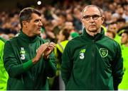 16 October 2018; Republic of Ireland manager Martin O'Neill and assistant manager Roy Keane, left, during the UEFA Nations League B group four match between Republic of Ireland and Wales at the Aviva Stadium in Dublin. Photo by Stephen McCarthy/Sportsfile