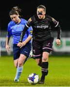 17 October 2018; Edel Kennedy of Wexford Youths in action against Sinead Gaynor of UCD Waves during the Continental Tyres FAI Women's Cup Semi-Final match between Wexford Youths and UCD Waves at Ferrycarrig Park, in Wexford. Photo by Matt Browne/Sportsfile