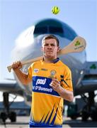 18 October 2018;  Podge Collins of Clare was at Dublin Airport this morning where Aer Lingus, in partnership with the GAA and GPA, unveiled the one-of-a-kind customised playing kit for the Fenway Hurling Classic which takes place at Fenway Park in Boston on November 18th. Aer Lingus will once again be the Official Airline of the Event and will be responsible for flying the four teams to Boston. Photo by Sam Barnes/Sportsfile