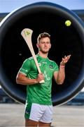 18 October 2018; Tom Morrissey of Limerick was at Dublin Airport this morning where Aer Lingus, in partnership with the GAA and GPA, unveiled the one-of-a-kind customised playing kit for the Fenway Hurling Classic which takes place at Fenway Park in Boston on November 18th. Aer Lingus will once again be the Official Airline of the Event and will be responsible for flying the four teams to Boston. Photo by Sam Barnes/Sportsfile