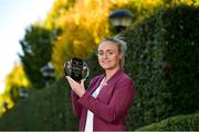18 October 2018; Neamh Woods of Tyrone with The Croke Park and LGFA Player of the Month award for August, at The Croke Park in Jones Road, Dublin. Neamh was outstanding for Tyrone in their TG4 All-Ireland Quarter and Semi-Finals in August, as the Red Hands made it to Croke Park. The Drumragh player then had the honour of captaining Tyrone to All-Ireland glory on September 16, while also earning the Player of the Match award in the Final against Meath. Photo by Matt Browne/Sportsfile