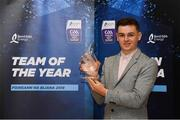 19 October 2018; Mark Coleman of Cork with his award at the Bord Gáis Energy GAA Hurling U-21 Team of the Year Awards at City Hall in Dublin. Photo by Piaras Ó Mídheach/Sportsfile