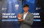 19 October 2018; Ger Browne of Tipperary with his award at the Bord Gáis Energy GAA Hurling U-21 Team of the Year Awards at City Hall in Dublin. Photo by Piaras Ó Mídheach/Sportsfile