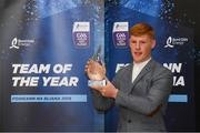 19 October 2018; Ger Collins of Cork with his award at the Bord Gáis Energy GAA Hurling U-21 Team of the Year Awards at City Hall in Dublin. Photo by Piaras Ó Mídheach/Sportsfile