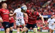 20 October 2018; Sam Arnold of Munster celebrates after scoring his side's fourth try during the Heineken Champions Cup Pool 2 Round 2 match between Munster and Gloucester at Thomond Park in Limerick. Photo by Sam Barnes/Sportsfile