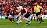 20 October 2018; Andrew Conway of Munster scores his side's fifth try during the Heineken Champions Cup Pool 2 Round 2 match between Munster and Gloucester at Thomond Park in Limerick. Photo by Diarmuid Greene/Sportsfile