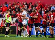 20 October 2018; Gerbrandt Grobler of Gloucester with Munster players following the Heineken Champions Cup Pool 2 Round 2 match between Munster and Gloucester at Thomond Park in Limerick. Photo by Sam Barnes/Sportsfile