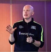 20 October 2018; Charles Harrison, National Cúl Camp Co-Ordinator, presenting the 'Games For All' workshop during the GAA National Healthy Club Conference at Croke Park Stadium, in Dublin. Photo by David Fitzgerald/Sportsfile