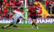 20 October 2018; Dan Goggin of Munster is tackled by Freddie Clarke of Gloucester during the Heineken Champions Cup Pool 2 Round 2 match between Munster and Gloucester at Thomond Park in Limerick. Photo by Diarmuid Greene/Sportsfile