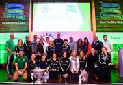 20 October 2018; Dublin and Raheny footballer Brian Fenton, centre, with 'Hero Award' winners during the GAA National Healthy Club Conference at Croke Park Stadium, in Dublin. Photo by David Fitzgerald/Sportsfile