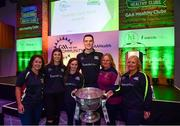 20 October 2018; Dublin and Raheny footballer Brian Fenton with fellow Raheny GAA members, from left, Mary Lawlor, Lauren Robinson, Dara O'Hanlon, Catherine Bedford-Leech and Maria Curtis during the GAA National Healthy Club Conference at Croke Park Stadium, in Dublin. Photo by David Fitzgerald/Sportsfile