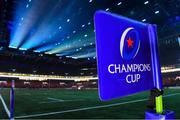 20 October 2018; A view of a Champions Cup corner flag prior to the Heineken Champions Cup Pool 4 Round 2 match between Racing 92 and Ulster at Paris La Defence Arena, in Paris, France. Photo by Brendan Moran/Sportsfile
