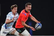 20 October 2018; Billy Burns of Ulster in action against Xavier Chauveau of Racing 92 during the Heineken Champions Cup Pool 4 Round 2 match between Racing 92 and Ulster at Paris La Defence Arena, in Paris, France. Photo by Brendan Moran/Sportsfile