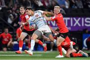 20 October 2018; Juan Imhoff of Racing 92 is tackled by David Shanahan, right, and Stuart McCloskey of Ulster during the Heineken Champions Cup Pool 4 Round 2 match between Racing 92 and Ulster at Paris La Defence Arena, in Paris, France. Photo by Brendan Moran/Sportsfile
